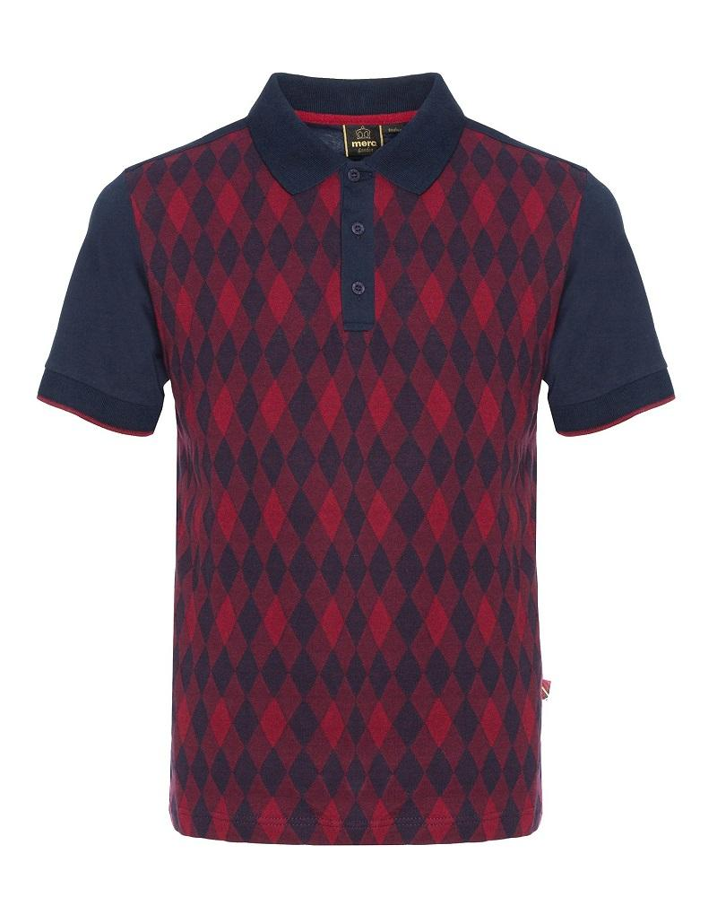 Merc London SYCAMORE Polo Dark Navy