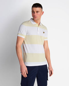 Lyle and Scott Wide Stripe Polo Buttercream