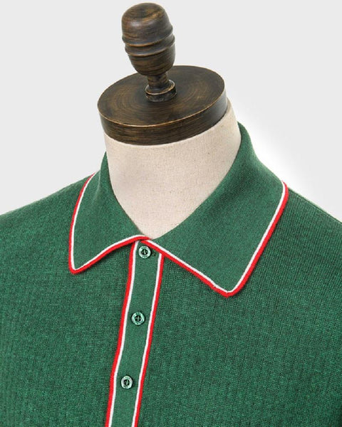Art Gallery Clothing WOODY Polo Isle Green