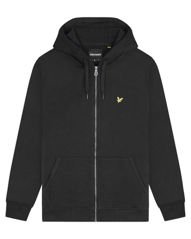 Lyle and Scott Zip-Through Hoodie Jet Black