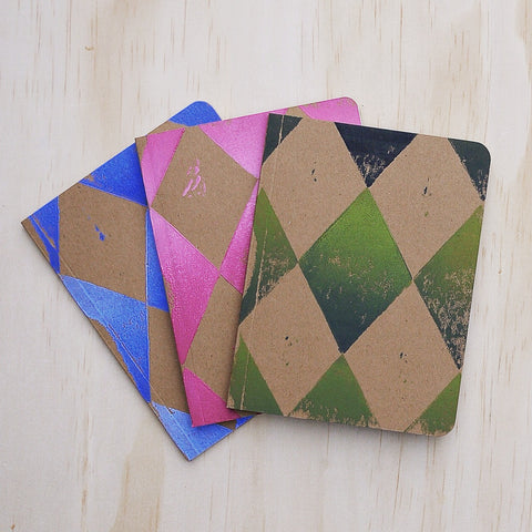 Hand Printed Found Paper Memo Books