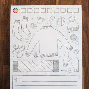 """Woolies"" Coloring Pad 3-pack"