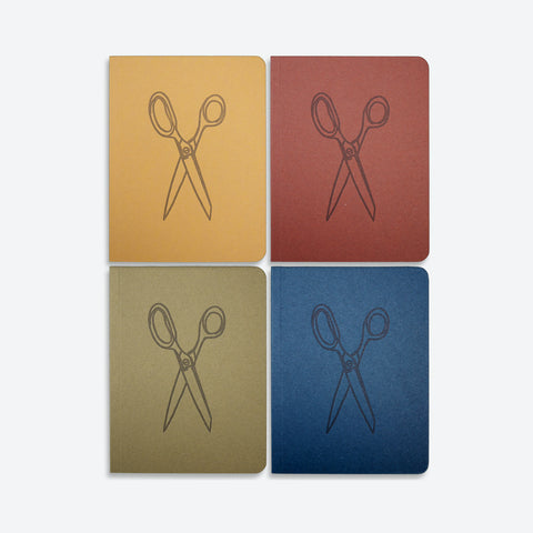Found Paper Memo Book 4-Pack