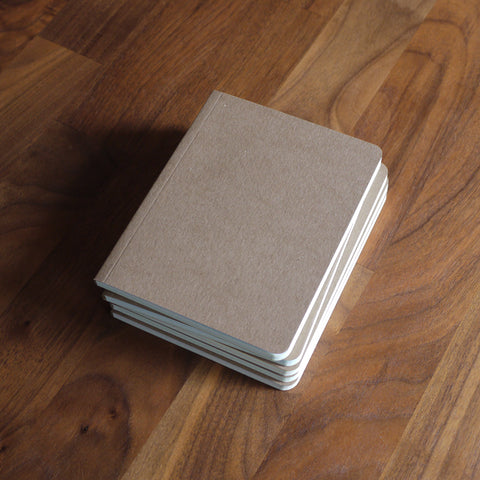 Found Paper Memo Book Kraft Brown