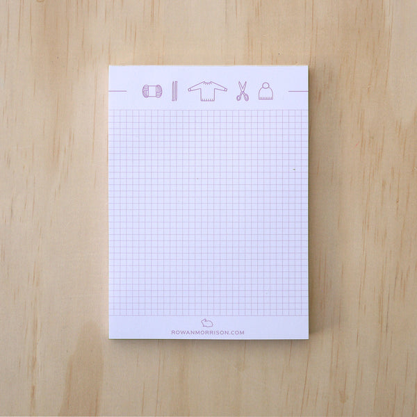 Knitting Icons Notepad