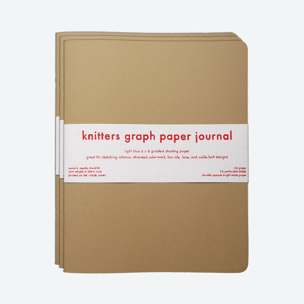 Knitters Graph Paper Journal 3-Pack