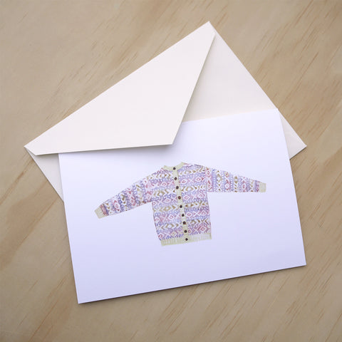 XOXO Sweater Greeting Card