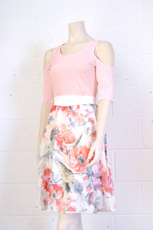 Jupe Greendale 100% lin doublée/ Pretty floral skirt of 100% linen