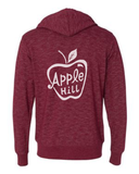 Unisex Apple Hill - Heathered Zip Hoodie