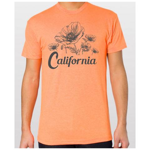 Unisex California Poppy Flower T-Shirt