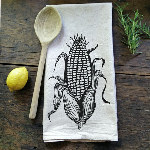 Corn On The Cob - Flour Sack Tea Towel