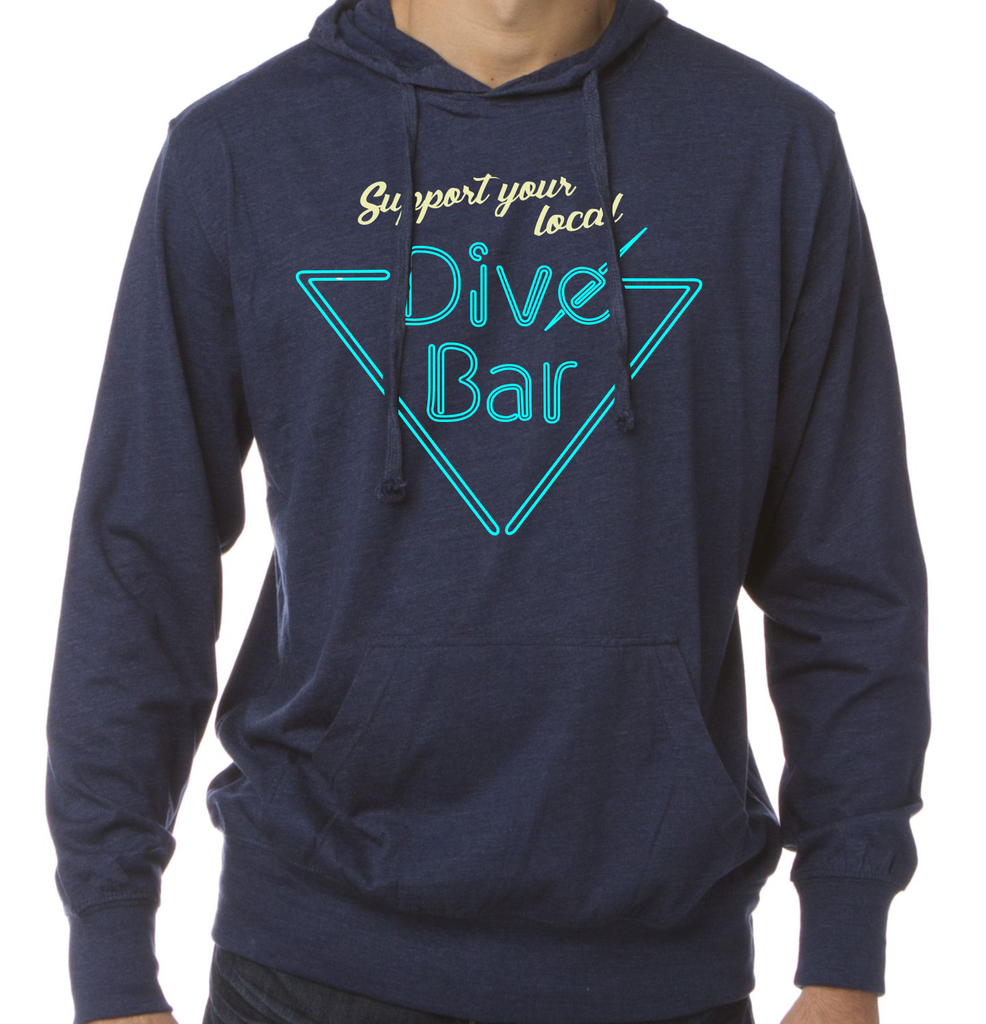 Unisex Support Your Local Dive Bar Pullover Hoodie