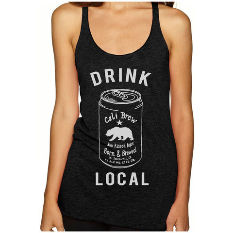 Women's California Drink Local Beer Racerback Tank Top