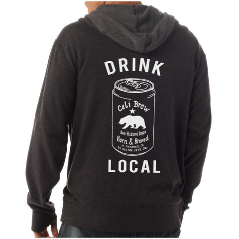 Unisex California Drink Local Beer - Premium Zip Hoodie