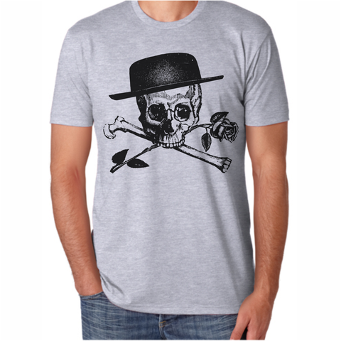 Men's Rose Skull and Crossbone T-Shirt