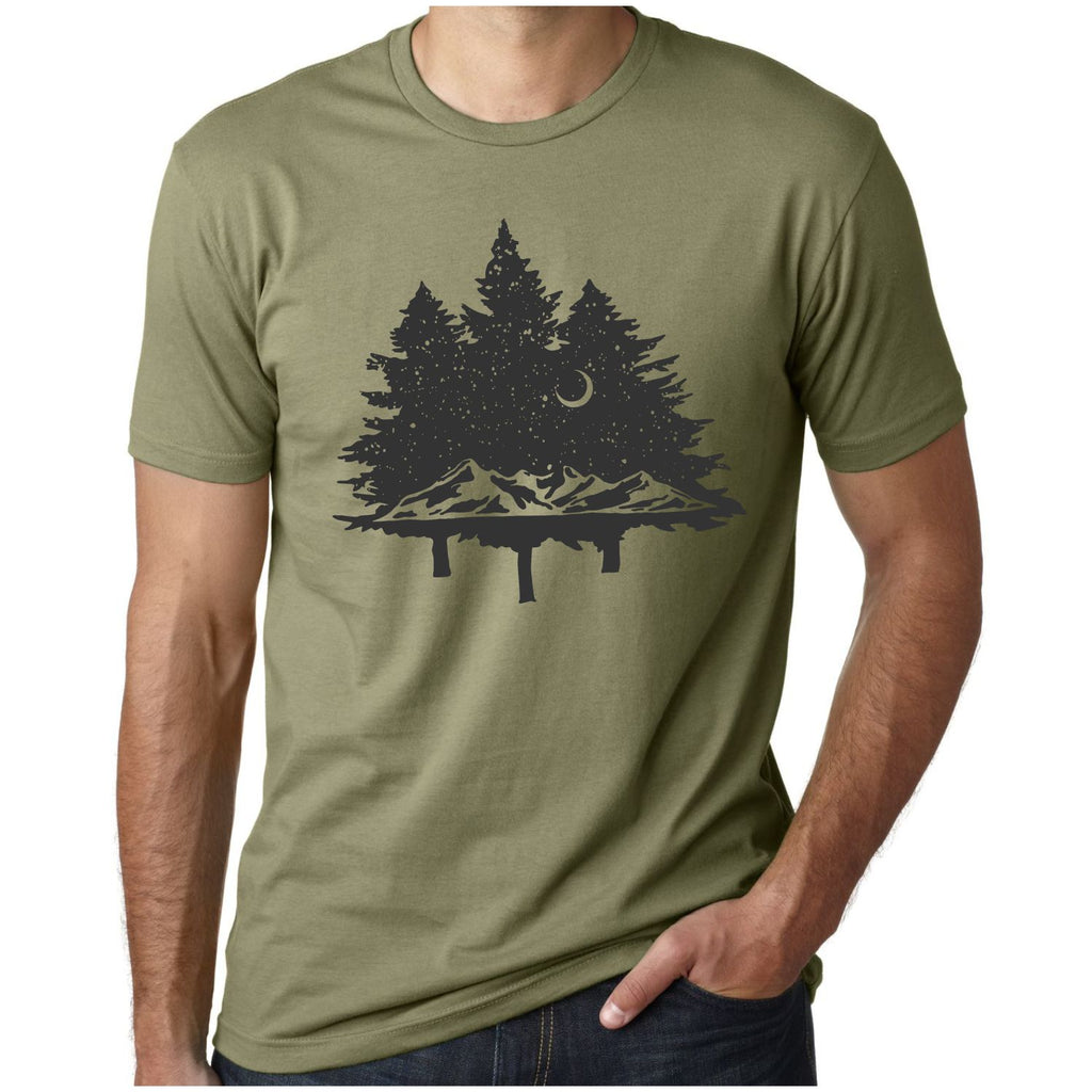 Men's In The Woods Tree Silhouette T-Shirt