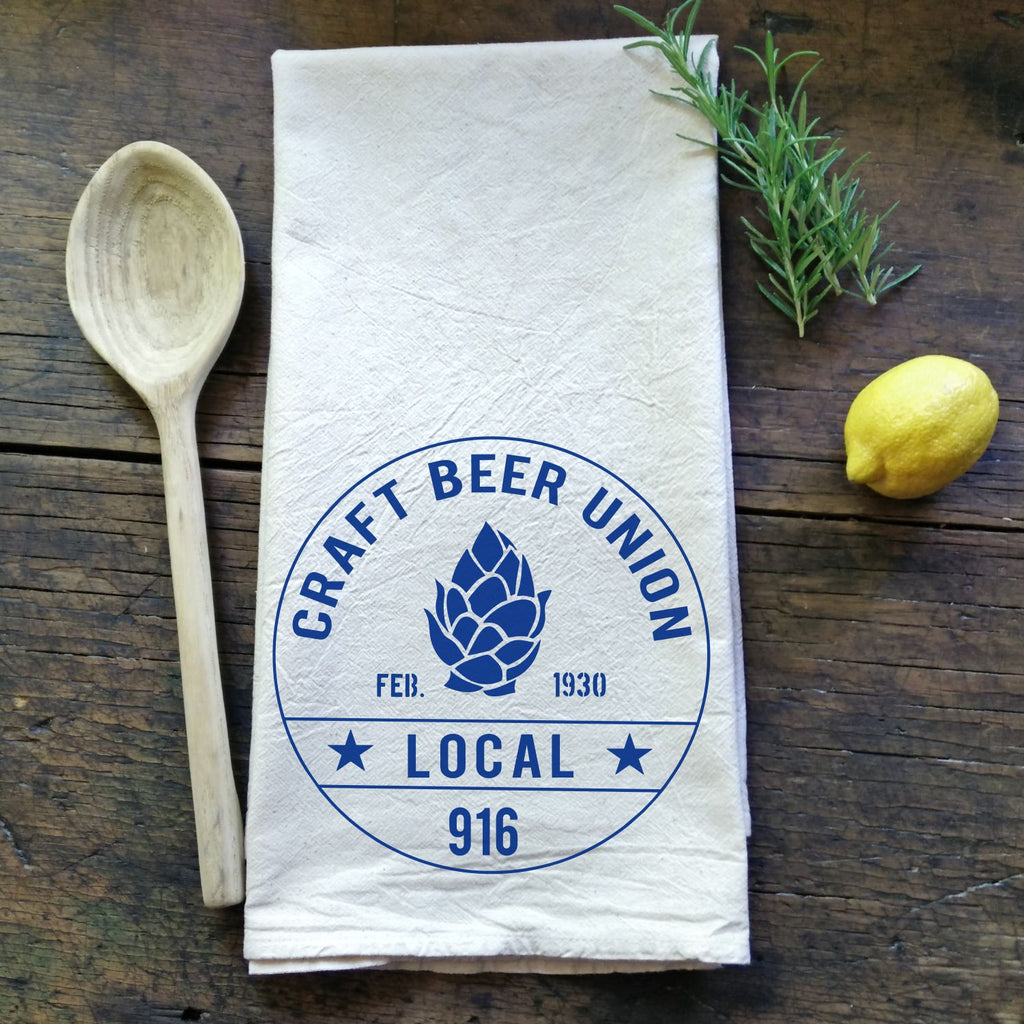 Craft Beer Union - Flour Sack Tea Towel
