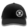 Black & White Anchor & Skull Flexfit Trucker Hat