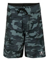 Captain Jack Black Camo Performance Board Short