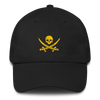 Black and Gold Pirate Flag Dad Hat