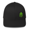 "Black & Neon Green Skull & Trident ""Triple Threat"" Hat"