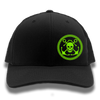 Black & Neon Green Anchor & Skull Flexfit Trucker Hat