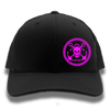 Black & Hot Pink Anchor & Skull Flexfit Trucker Hat