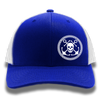Royal Blue Anchor & Skull Flexfit Trucker Hat