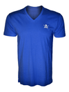 Calico Jack Pirate Flag V-Neck Royal Blue Shirt
