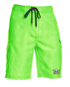 Captain Jack Neon Green Board Shorts