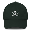 Hunter Green Pirate Flag Dad Hat
