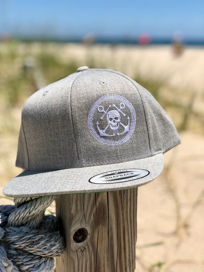 Anchor & Skull Snapback Hat