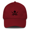 Maroon Pirate Flag Dad Hat