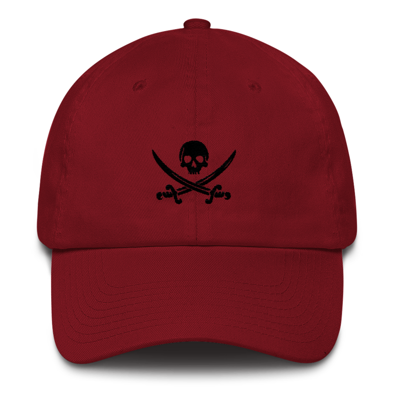 2a9b2128398edd Maroon Pirate Flag Dad Hat - PIRATA CLOTHING