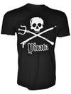 King Neptune Trident and Spear Black Graphic T-Shirt