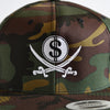 Camo Pirate & Loot Snapback Hat