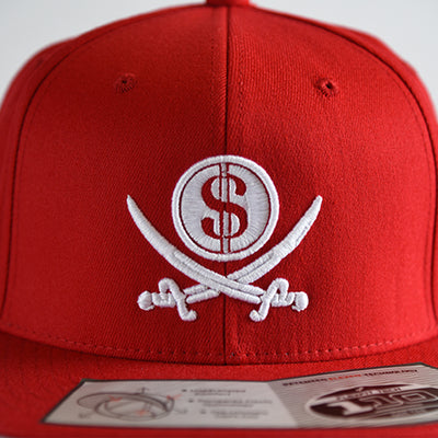 Red Pirate & Loot Snapback Hat