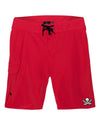 Captain Jack Red Performance Board Short