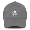 Gray Jolly Roger Dad Hat