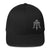 "Black & Gray Skull & Trident ""Triple Threat"" Hat"