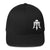 "Black & White Skull & Trident ""Triple Threat"" Hat"