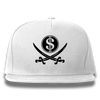 White Pirate & Loot Snapback Hat