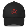 Black & Red Pirate Flag Dad Hat