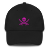 Black & Pink Pirate Flag Dad Hat