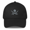 Black & Gray Pirate Flag Dad Hat