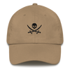 Tan & Black Pirate Flag Dad Hat