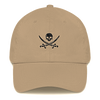 Khaki & Black Pirate Flag Dad Hat
