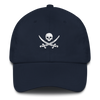 Navy & White Pirate Flag Dad Hat