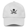 White Pirate Flag Dad Hat