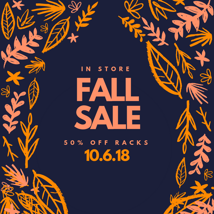 In-Store Fall Sale